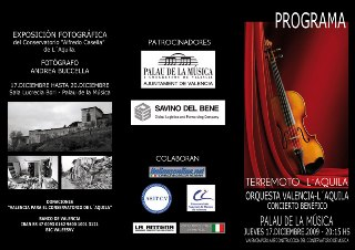 Depliant Concerto Valencia