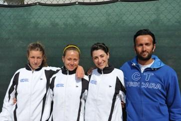 La squadra femminile del Circolo Tennis Pescara promossa nella serie A2