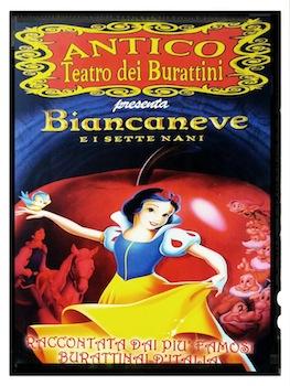 Biancaneve antico teatro dei burattini