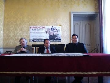 Perrotta presenta spettacolo con Biagio Izzo