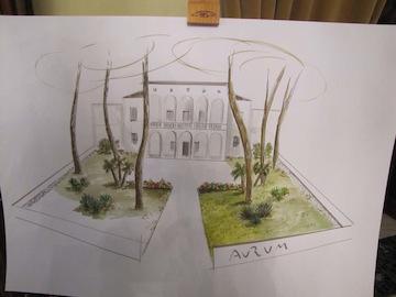 sindaco Albore Mascia e assessore Santilli su progetto rifacimento giardino Aurum01
