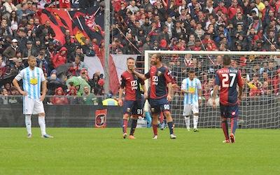 rete rossoblù in Genoa-Pescara