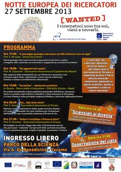 70x100 notte dei ricercatori 2013