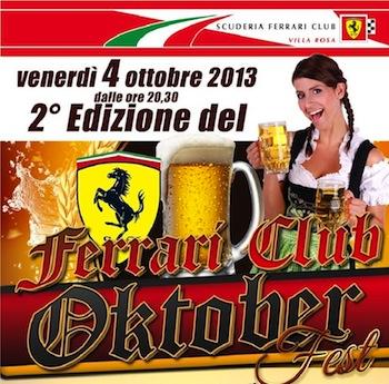 Oktober Fest al Club Ferrari