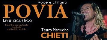 Povia in concerto a Chieti