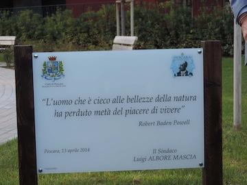 Pescara Inaugurato Il Parco Baden Powell