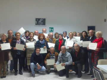 Gli alunni insieme al trainer Pasquale Elia