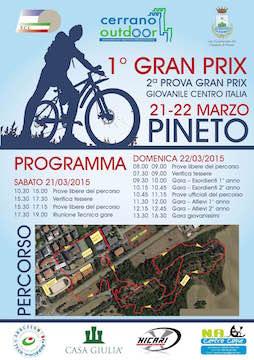 Locandina 1° GRAND PRIX Pineto 22.03.15