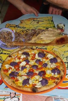 La pizza Ori e Sapori d'Abruzzo