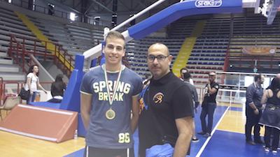 Matteo Bianchi oro a Napoli Sanda