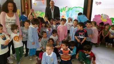 Sindaco Di Primio - Visita del Sindaco alla scuola dell'infanzia Brigata Maiella