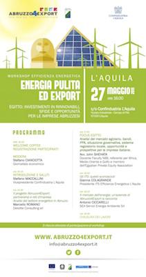 energia pulita ed export