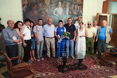 Il sindaco riceve Alessia Beneduce, giovanissima campionessa di lancio al martello