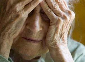 Anziana disperata