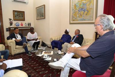 Pescara,ricevuti a Palazzo di Città l'ambasciatore e il console del Senegal in Italia