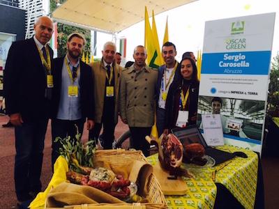 Battistelli, Scorrano, Bertinelli, Tilli, Carosella lungo Cardo sud all'Expo di Milano