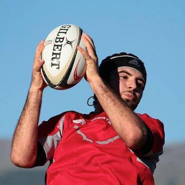Il terza linea del Sambuceto Rugby, Riccardo Di Febo