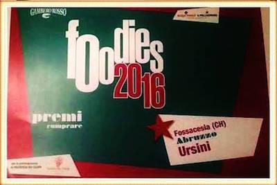 Guida Foodies 2016 del Gambero Rosso