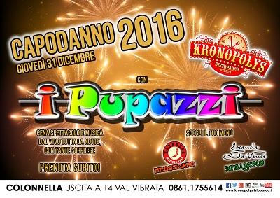 Kronopolys Capodanno 2016 Colonnella i pupazzi