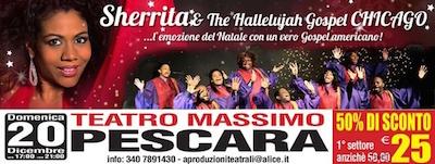 Sherrita & the Hallelujah Gospel Chicago - Pescara locandina