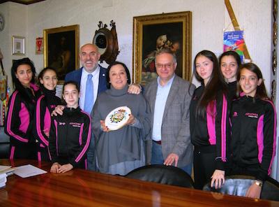 Sindaco, Assessore, prof Mazziotti, atlete