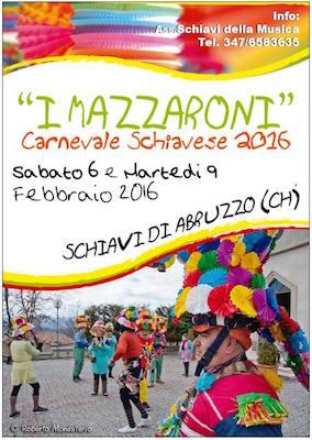 I Mazzaroni Carnevale 2016 a Schiavi di Abruzzo