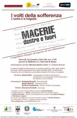 Macerie dentro e fuori presentazione a Roma