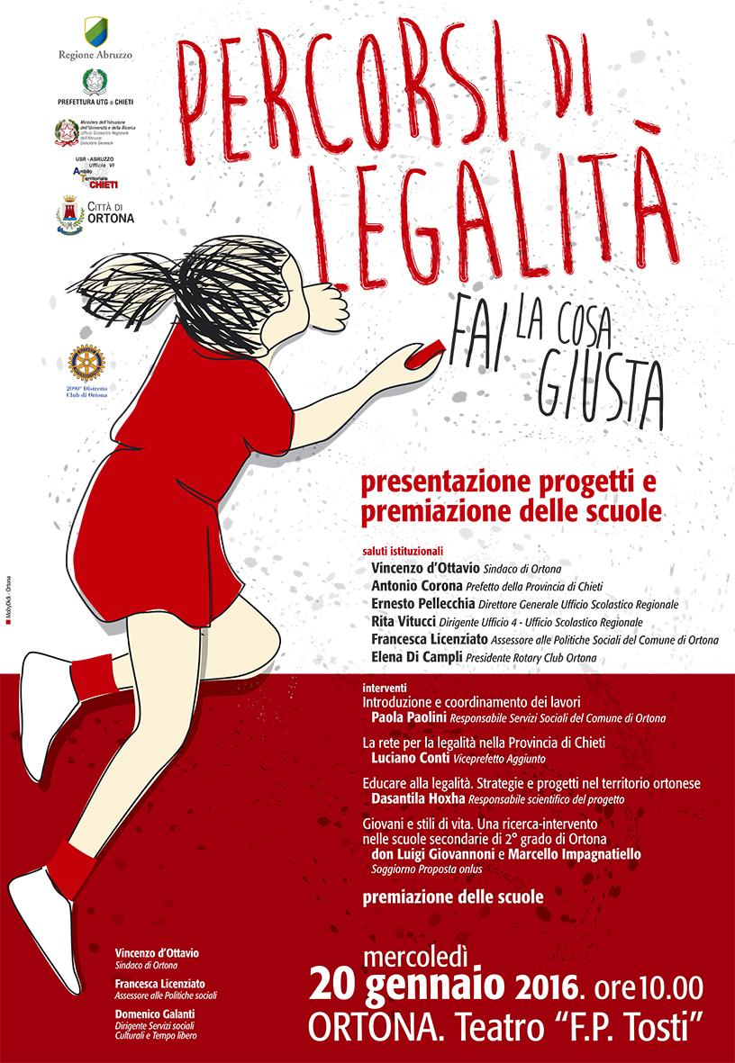 Percorsi di legalità, evento al Teatro F.P.Tosti con il prefetto Corona