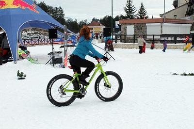 bike sulla neve