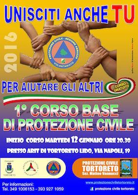 manifesto corso protezione civile 2015