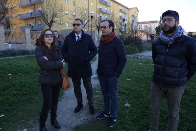 Alessandrini su parco in via Tavo a Pescara