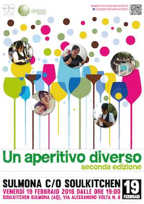 Locandina aperitivo diverso - seconda edizione 2016