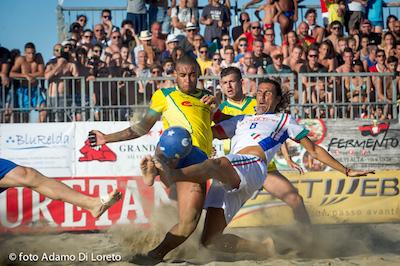 beach soccer a Silvi