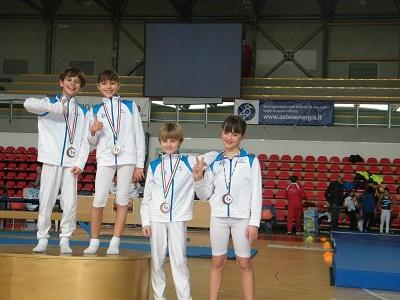 Arcadia due medaglie d'oro nel trampolino elastico