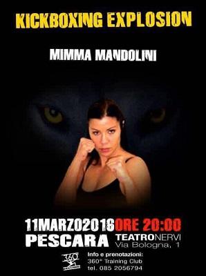 Mimma Mandonlini a Kickboxing Explosion 2016