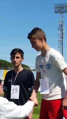 Filippo Pincelli e Giorgio Camerano S.R. durante la premiazione