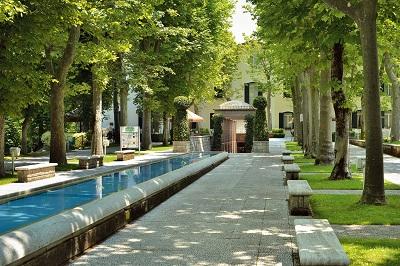 parco e ingresso Terme di Caramanico