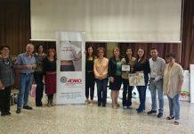 Gli insegnanti, la presidente Mascioli ed il referente Admo Elia