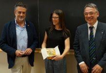 La premiazione con Eugenio Coccia, Donata Cucchi e Francesco Vissani