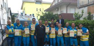 Foto Volontari con brevetto con il Governatore Fiorilli e istruttore Moccia