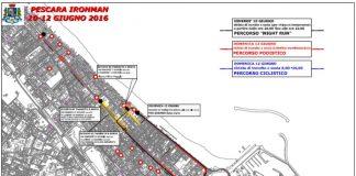 Ironman 2016 a Pescara cartina e viabilità