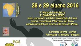 3° Memorial Padre Giorgio Di Lembo