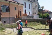 operatori Giulianova Patrimonio impegnati nell'area di Palazzo Massei