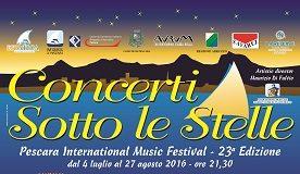 PMF - Concerti sotto le Stelle 2016 - manifesto