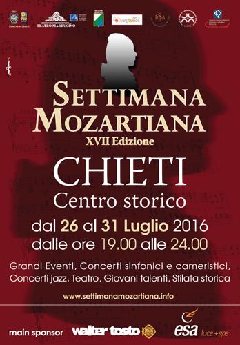 Settimana Mozartiana 2016 Chieti dal 26 al 31 luglio 2016