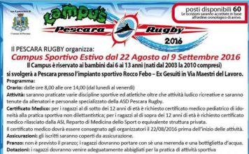 Campus Sportivo Estivo 2016 rugby