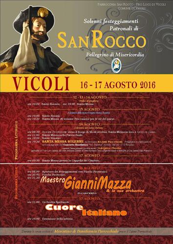 Festa di San Rocco 2016 a Vicoli