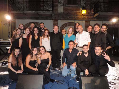 Foto di gruppo con sindaco Di Lorito