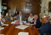foto conferenza Sindaco, Assessori di Felice e Colantonio, Consiglieri Donatelli, Fusilli, Costa e Micomonaco