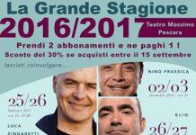 locandina spettacoli Teatro Massimo di Pescara stagione 2016-2017